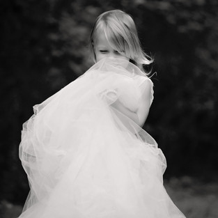 black and white photo of girl