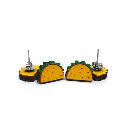 Tacos Wood Earrings