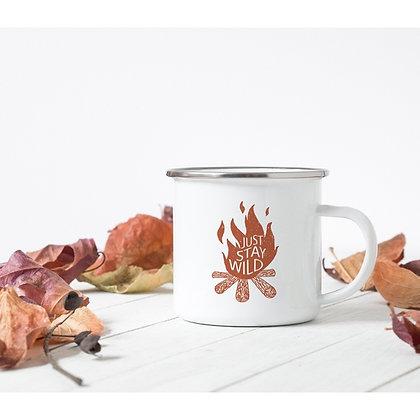 Just Stay Wild Campfire  Metal Mug