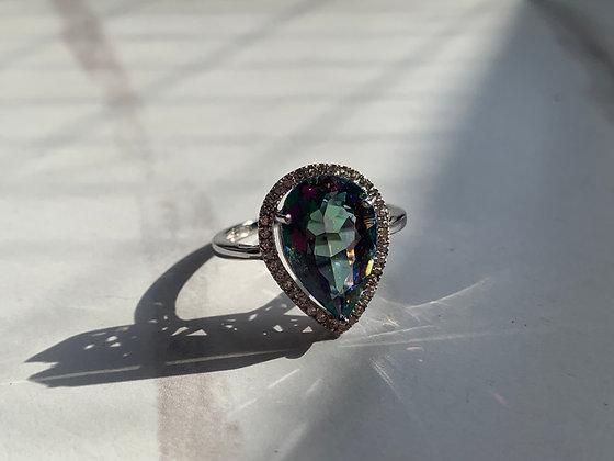 Diamonds Sapphire and Mystic Quartz