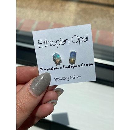 Ethiopian Opal Crystal Studs