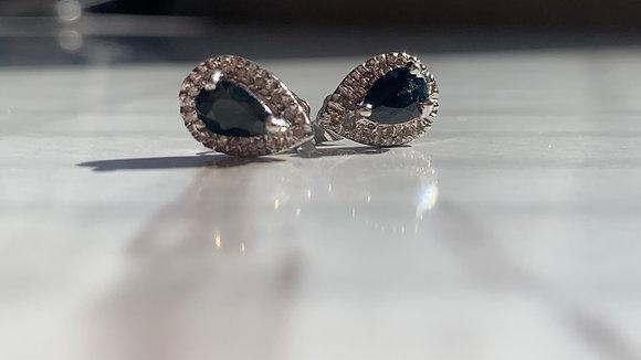 Black Sapphire Designer Earrings