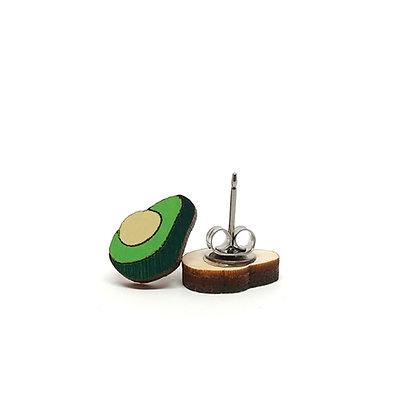 Avocado Wood Earrings