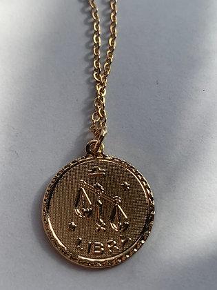 Gold Plated Ascending Libra Medallion