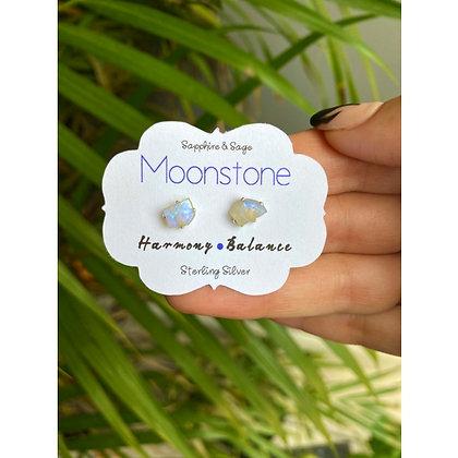 Moonstone Crystal Studs