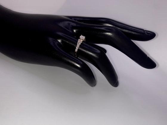 14K Yellow Gold Round Cut Diamond Engagement Ring