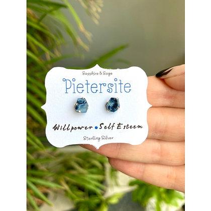 Pietersite Crystal Studs