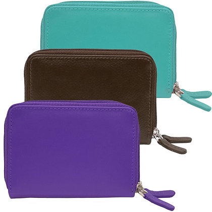 RFID Two-Zip Card Holder