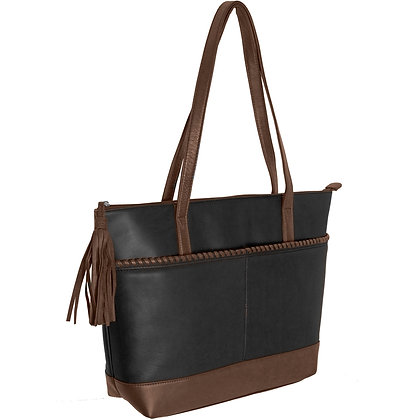 Leather Whipstitch Tote