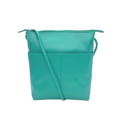 RFID Leather Midi-Sac Bag