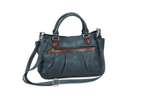 Fine Cashmere Napa Leather Susana Satchel