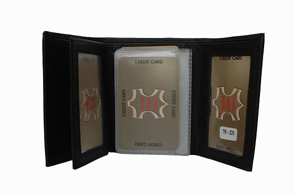 Men's Trifold Wallet with Flap