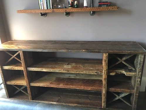Buffet with wine rack