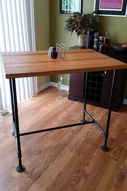 Butcher Block High Top Dining Table
