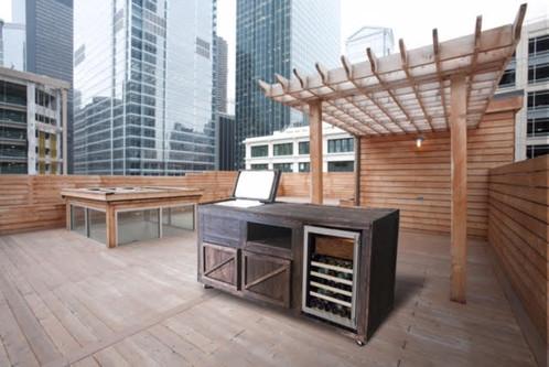 Custom Indoor/Outdoor bar cart