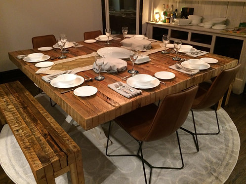 Custom 100 year old two x four table