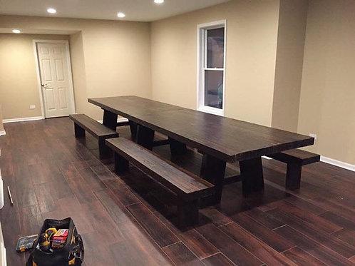 """Custom 3"""" thick farmhouse table"""
