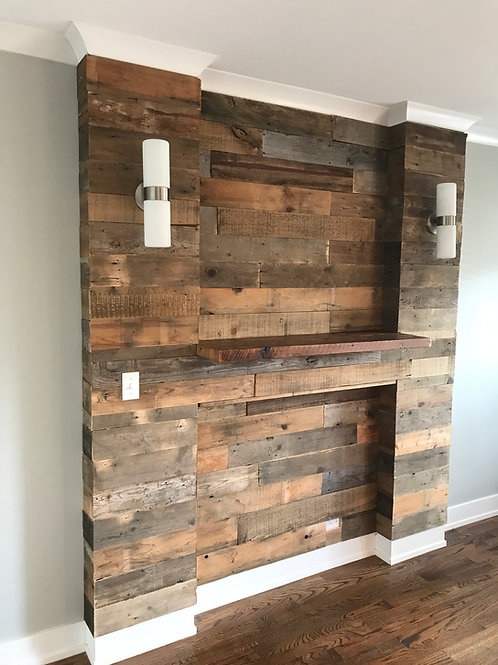 Barnwood wall wrap