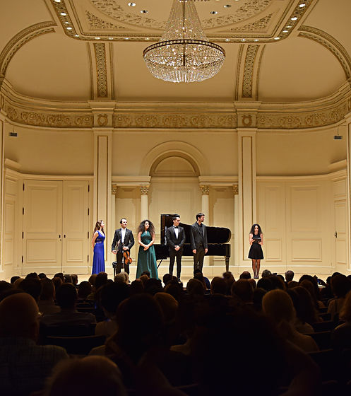 Winners' concert at Carngie Hall, Manhattan Competition