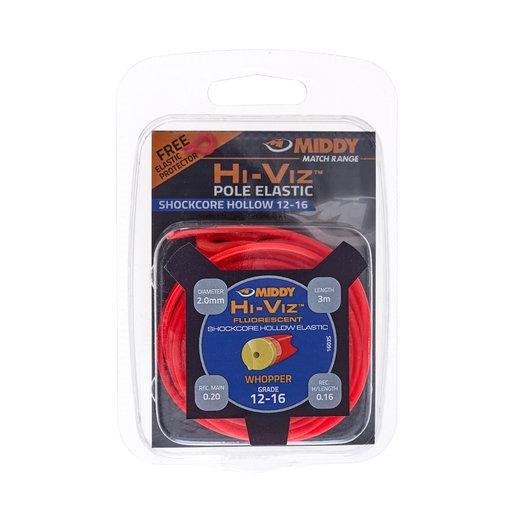 Middy Hi-Viz Shockcore Hollow Elastic: 12-16 (Red)