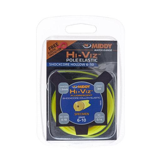 Middy Hi-Viz Shockcore Hollow Elastic: 6-10 (Yellow)