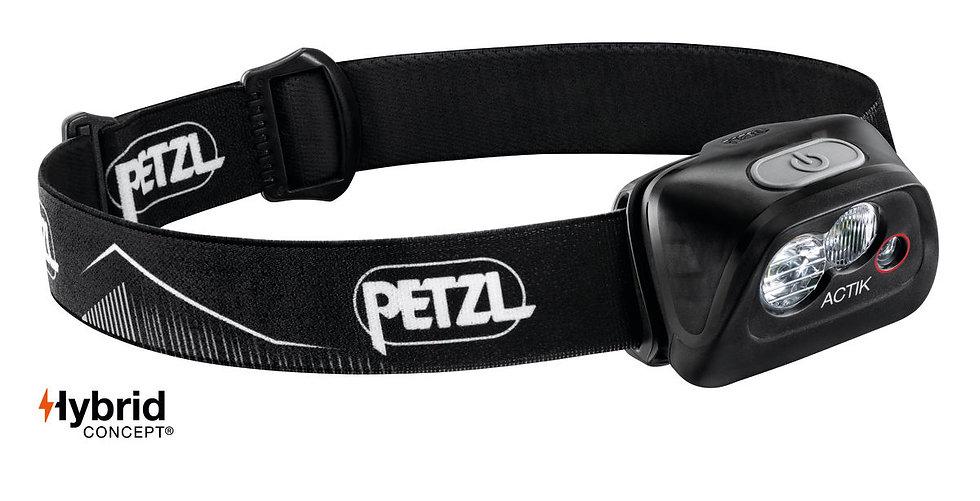 Petzl Actik Black Head Torch - 350 Lumens