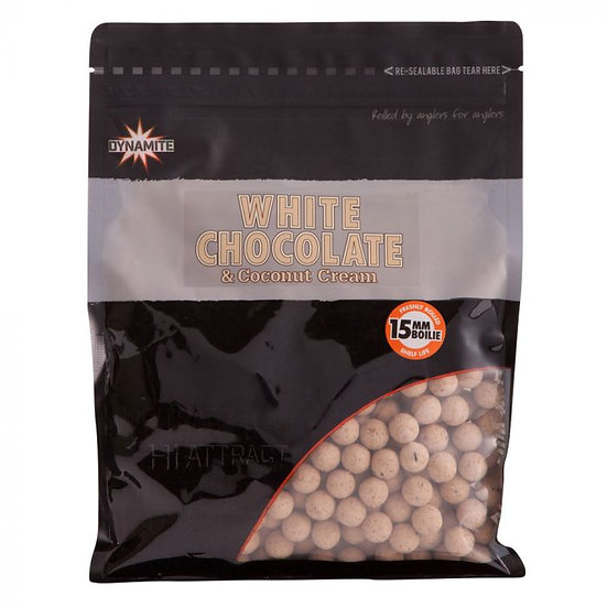 Dynamite 15mm White Chocolate & Coconut Boilies - 1kg