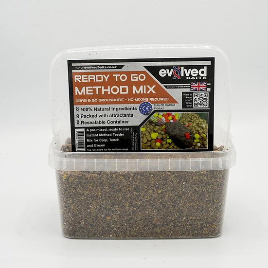Evolved  Baits Ready Mixed Groundbait - Method Mix 1kg