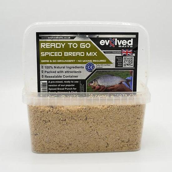 Evolved  Baits Ready Mixed Groundbait - Spiced Bread Mix 1kg
