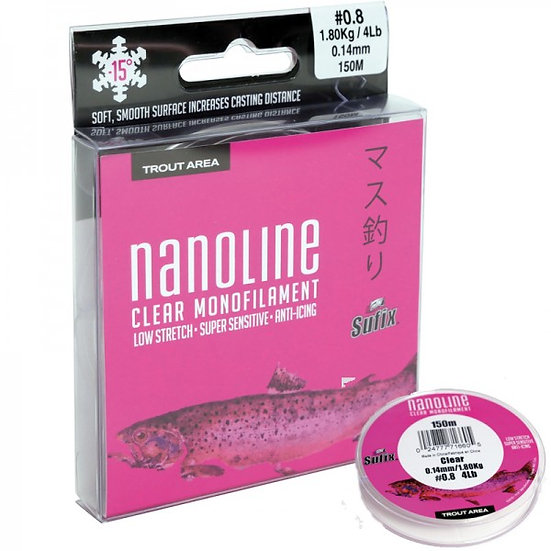 Sufix Nanoline Monofilament - Clear - 100m