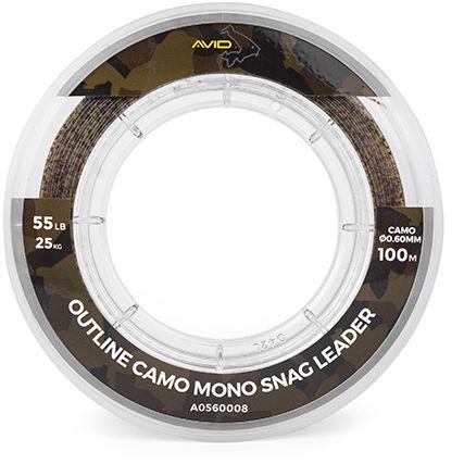 Avid Outline Camo Mono Snag Leader - 100m