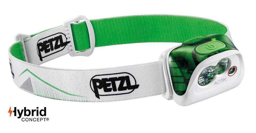 Petzl Actik Green Head Torch - 350 Lumens