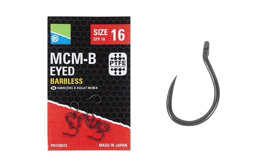 Preston MCM-B Eyed Barbless Hooks