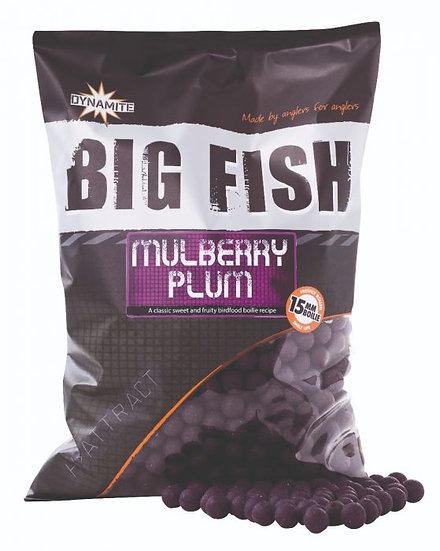 Dynamite Big Fish 15mm Mulberry Plum Boilies - 1.8kg
