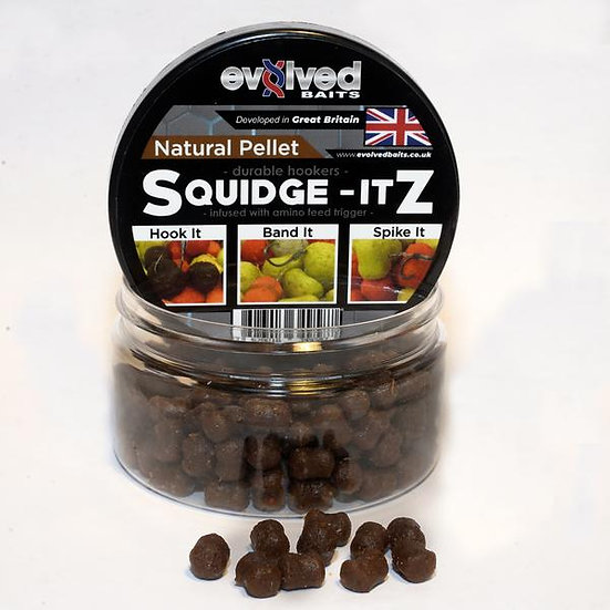 Evolved Baits Squidge Itz - Amino Natural Pellet  8x10mm