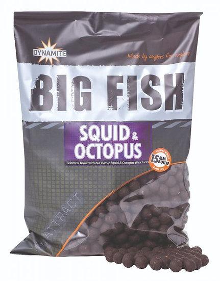Dynamite Big Fish 15mm Squid & Octopus Boilies - 1.8kg