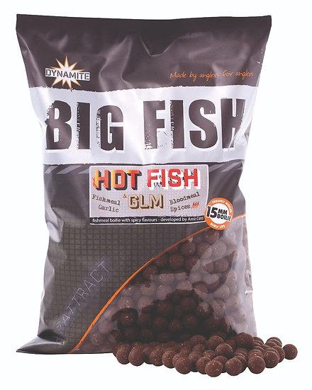 Dynamite Big Fish 15mm Hot Fish & GLM Boilies - 1.8kg