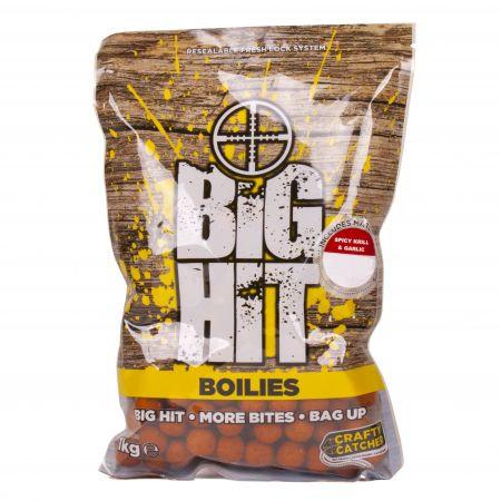 Crafty Catcher Big Hit - Spicy Krill & Garlic Boilies - 1kg