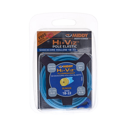 Middy Hi-Viz Shockcore Hollow Elastic: 18-22 (Blue)