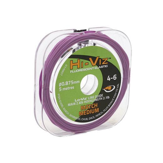 Middy Hi-Viz Original Solid Elastic: 4-6 Match Medium (Purple)