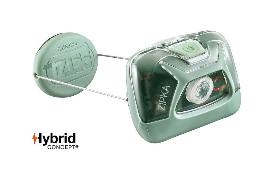 Petzl Zipka Green Head Torch - 300 Lumens