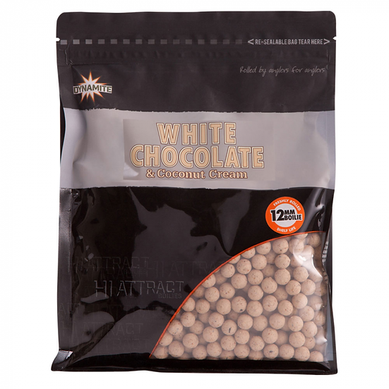 Dynamite 12mm White Chocolate & Coconut Boilies - 1kg