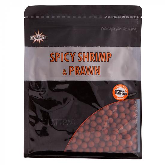Dynamite 12mm Spicy Shrimp & Prawn Boilies - 1kg