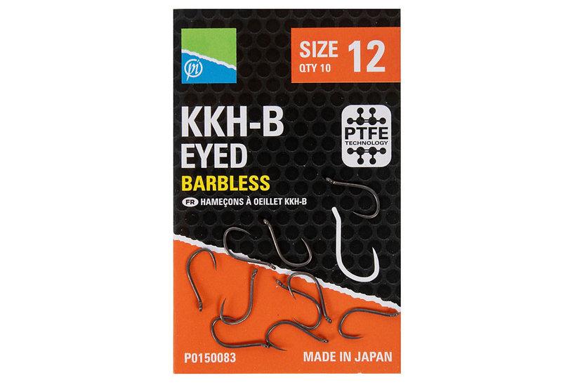 Preston KKH-B Eyed Barbless Hooks