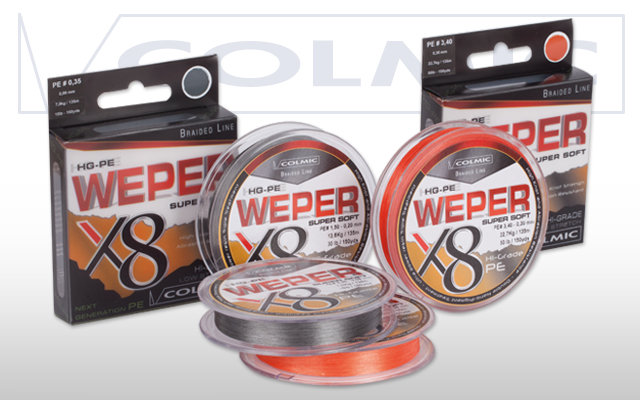 Colmic Weper X8 Braid - Grey - 135m