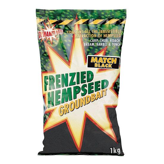 Dynamite Super Match Black Frenzied Hempseed Groundbait - 1kg