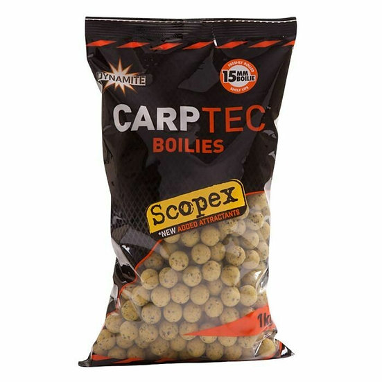 Dynamite 15mm Garlic & Cheese CarpTec Boilies - 1kg