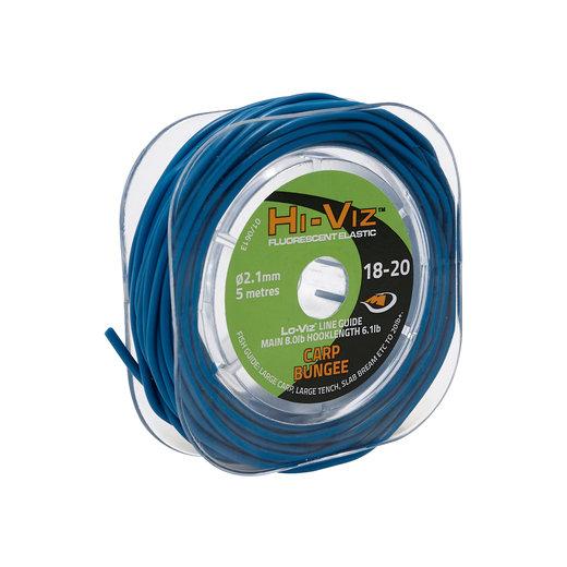 Middy Hi-Viz Original Solid Elastic: 18-20 Bungee (Blue)