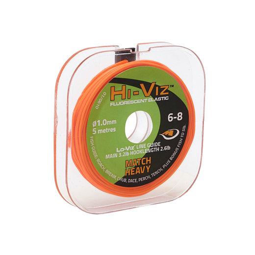 Middy Hi-Viz Original Solid Elastic: 6-8 Match Heavy (Orange)