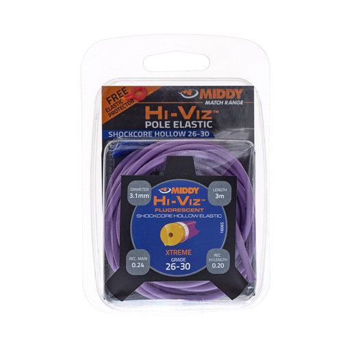 Middy Hi-Viz Shockcore Hollow Elastic: 26-30 (Purple)